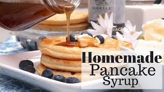 """❤️ SUBSCRIBE: http://bit.ly/divascancookfan  There is nothing like from-scratch buttermilk pancakes, topped with whipped butter and smothered in hot homemade pancake syrup! One of my favorite breakfast foods! If you've never made pancake syrup from scratch then....you might want to skip it because seriously..once you taste homemade all the other store-bought kinds will because """"just ok"""".  Although I have found one store-bought kind that tastes close to homemade (Log Cabin baby!)This homemade pancake syrup is so buttery, smooth, rich and delicious! I'm not really a fan of having a lot of syrup on my waffles or pancakes but with this homemade syrup, I just want to drink it up! It's that good! Perfectly sweet and balanced out with the salt and butter. This and my buttermilk syrup recipe (recipe coming soon)  is the only homemade syrup my boys will eat.Try it out next time you make a batch of pancakes….or waffles…or french toast! Heck, this stuff is even good on ice cream! GET THE PRINTABLE RECIPE  HERE: 👉http://divascancook.com/homemade-pancake-syrup-recipe/___________________________________________________________________🍕🍔🍰FAN FAVORITED RECIPES:🍦🍩🍟How To Make Cake Pops: https://youtu.be/9BcBK2_nKmAHow To Make Baked Mac n Cheese: https://youtu.be/e8S1vFC8zYkHow To Make Crispy Fried Chicken: https://youtu.be/JXCmp1jMi0w--------------------------------------------------------------------------------------------🤗FOLLOW ME ON SOCIAL MEDIA! 👠😘OFFICIAL WEBSITE: http://divascancook.comFACEBOOK: http://www.facebook.com/divascancookfanpagePINTEREST: http://pinterest.com/divascancook/INSTAGRAM: https://instagram.com/divascancook/TWITTER: https://twitter.com/divascancookGGOGLE+: https://plus.google.com/+divascancook/posts____________________________________________________________________"""
