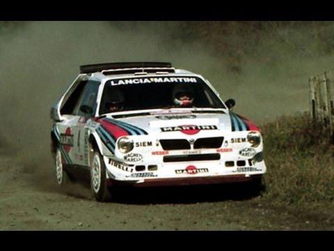 lancia delta s4 al rally di nuova zelanda 1986