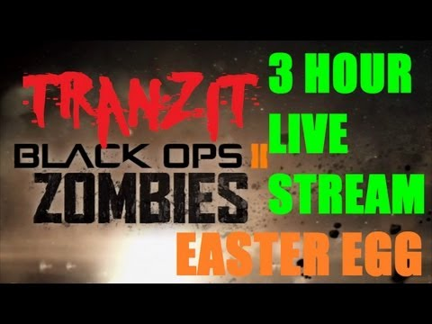 TranZit Zombies Easter Egg Hunting Live Stream Footage (3 Hours)