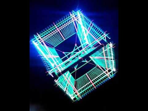 Tesseract Hypercube LED DECOR for psychedelic party