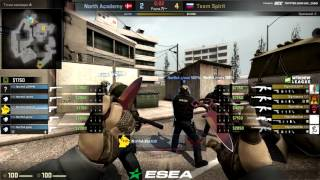 ESEA Premier Season 25 Europe | North Academy VS Team Spirit | By Tonik