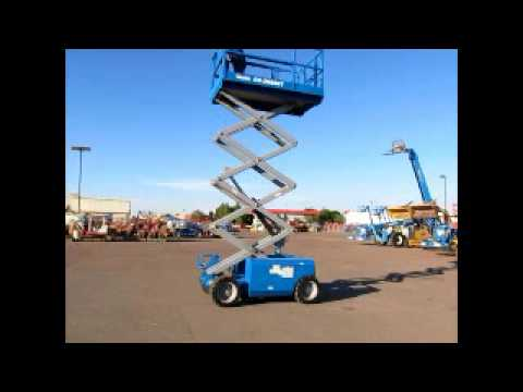 Sold! 2006 Genie GS2668RT 4x4 Dual Fuel Scissor Lift Aerial Work bidadoo.com