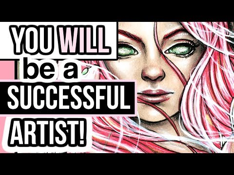 5 REASONS YOU WILL BE A SUCCESSFUL ARTIST! Sketch with me + Art talk