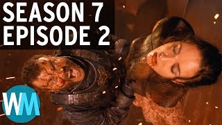 """Top 3 Things You Missed in Season 7 Episode 2 of Game of Thrones - Watch the Thrones // Subscribe: http://goo.gl/Q2kKrDAnother week, another episode of Game of Thrones, and another edition of Watch the Thrones to catch you up on all the key plot points, theories, easter eggs, and more from last night's episode. In """"Stormborn,"""" we saw a ton of interesting developments, including Sansa Stark as the Queen in the North, Ellaria being kidnapped by Euron to be brought to King's Landing, and some clarification of the """"Prince who was Promised"""" prophecy. Check back next Monday for the next episode of Watch the Thrones where we'll be breaking down Season 7 Episode 3, """"The Queen's Justice.""""Have an idea you want to see made into a WatchMojo video? Check out our suggest page at http://watchmojo.com/suggest and submit your idea.Be sure to visit our Suggest Tool and Submit Ideas that you would like to see made into Top 10 videos! http://www.WatchMojo.com/SuggestOur Magazine!! Learn the inner workings of WatchMojo and meet the voices behind the videos, articles by our specialists from gaming, film, tv, anime and more. VIEW INSTANTLY: http://goo.gl/SivjcXWatchMojo's Social Media Pageshttp://www.Facebook.com/WatchMojohttp://www.Twitter.com/WatchMojo http://instagram.com/watchmojo Get WatchMojo merchandise at shop.watchmojo.comWatchMojo's ten thousand videos on Top 10 lists, Origins, Biographies, Tips, How To's, Reviews, Commentary and more on Pop Culture, Celebrity, Movies, Music, TV, Film, Video Games, Politics, News, Comics, Superheroes. Your trusted authority on ranking Pop Culture."""