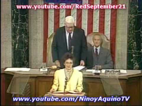 United States Congress - On September 18, 1986, just 7 months after she was swept to power by a popular revolt against dictator Ferdinand Marcos, president Corazon C. Aquino addresse...