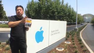 地域No1を目指すな。Apple本社の前で書籍のPR!