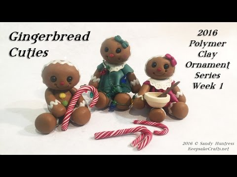 Gingerbread Cuties-Polymer Clay Christmas Ornaments Series-2016