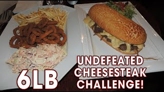 UNDEFEATED CHEESESTEAK SANDWICH CHALLENGE!!