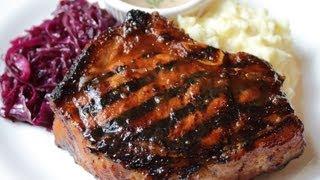 Mongolian Pork Chops - Video 700! Asian Marinade Pork Chop With Hot Mustard Sauce