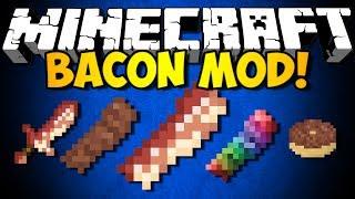 Minecraft Bacon Mod: NEW FOOD, NEW BLOCKS,&MORE! (HD)