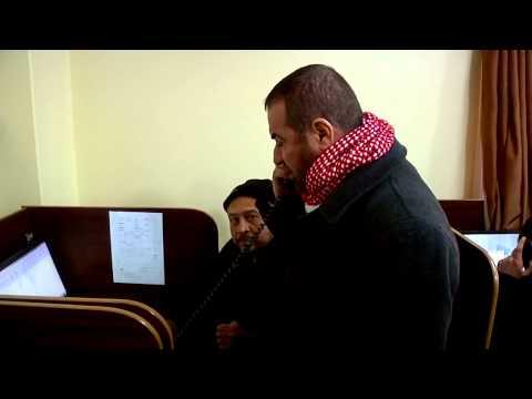 وزير الداخلية أ. فتحي حماد يرد على اتصالات المواطنين اثناء المنخفض الجوي