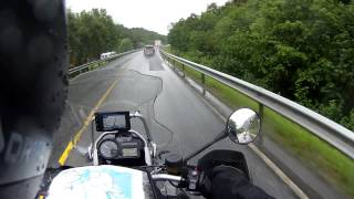 7. BMW R1200 GS Adventure Triple Black, Norwegen, Fahrt bei schlechtem Wetter Juli 2013