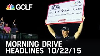Morning Drive Headlines 10/22/15  | Golf Channel