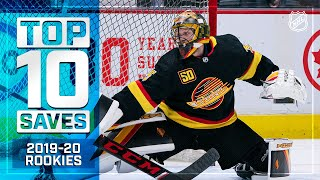 Top 10 Rookie Saves of 2019-20 ... So Far | NHL by NHL