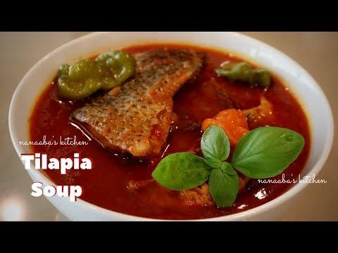 How to make FRESH TILAPIA SOUP Nanaabas kitchen I Ghanaian fish soup I step by step preparation