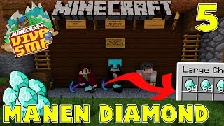 PANEN DIAMOND 1 STACK WITH NEVINGAMING & SARYUBROTHER - Minecraft Survival : VIVA SMP 2 #5