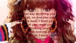 want you back cher lloyd lyrics (clean)