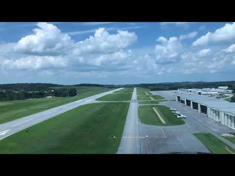 Landing an Agusta 109C at KDMW...