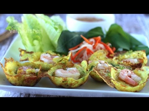 How to make a Vietnamese Mini Pancake – Bánh Khọt