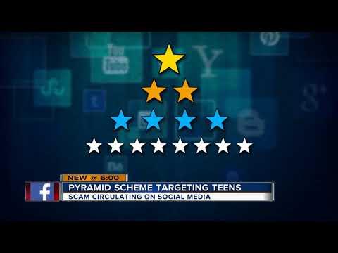 Social media pyramid scheme targeting teens