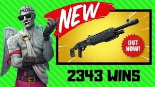 New Legendary Pump Shotgun|New Patch|2343 Wins|Fortnite Battle Royale Live