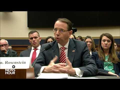 WATCH: Deputy AG Rosenstein testifies before House Judiciary Committee (1/2)