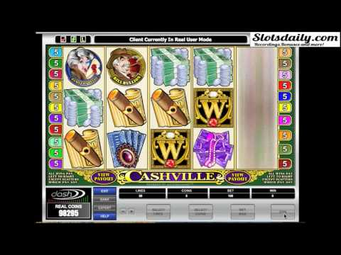 slot gameplay - Cashville (Microgaming)