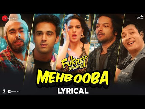 Mehbooba - Lyrical | Fukrey Returns | Prem & Harde