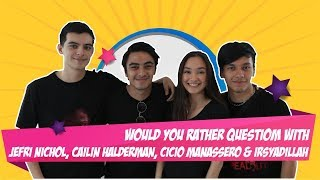 Video Would You Rather Question With Jefri Nichol, Caitlin, Cicio dan Irsyadillah MP3, 3GP, MP4, WEBM, AVI, FLV Januari 2019