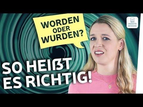 worden oder wurden? | Deutsche Grammatik einfach erklärt