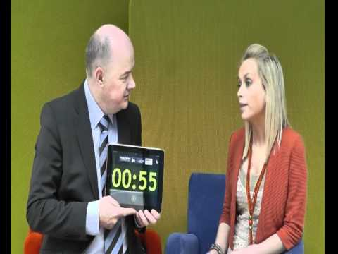 Charlene Stockdale, Cupid Creations, takes the 60 second challenge with Omagh Enterprise Company