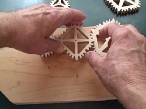 Gears - From www.lisaboyer.com Woodworking Plans. Clayton Boyer demonstrates a variety of square, oval, pentagonal, organic and other unbelievably-shaped gears--and ...