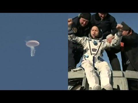 Soyuz MS-05 landing_Űrhajó videók