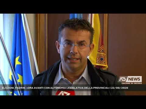 ELEZIONI, PADRIN: «ORA AVANTI CON AUTONOMIA LEGISLATIVA DELLA PROVINCIA» | 22/09/2020