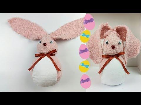 coniglietto profuma ambienti creato con un calzino - fai da te