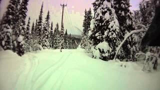 10. Arctic cat M9000 Powerline riding