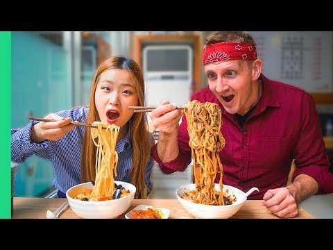 Korean NOODLE TOUR! Every kind of NOODLE in Seoul, South Korea!