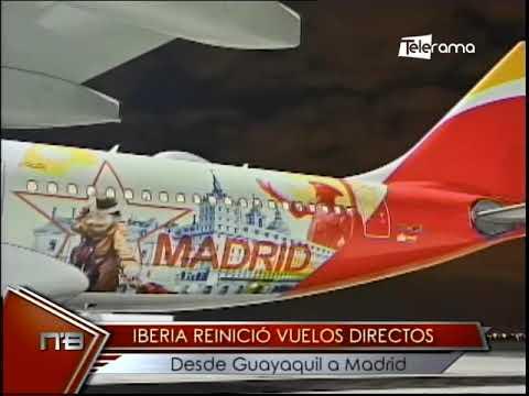 Iberia reinició vuelos directos desde Guayaquil a Madrid