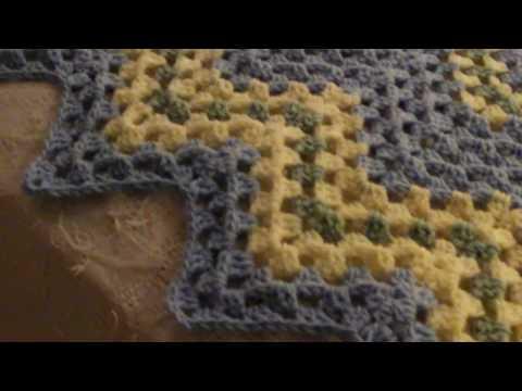 Baby Blue Granny Ripple blanket