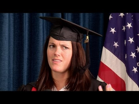 stewart - KStew gives graduates some words of wisdom for the real world!! Subscribe to BarelyPolitical! http://bit.ly/Nf8avU The Key of Awesome playlist! http://bit.ly...