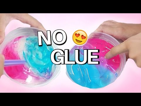 DIY CLEAR SLIME WITHOUT GLUE (MUST WATCH!) (видео)