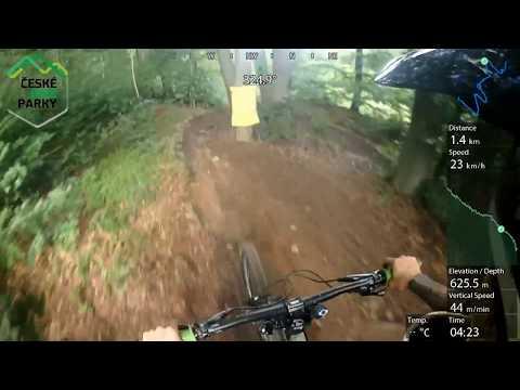 Bikepark Klíny – modrá 2017