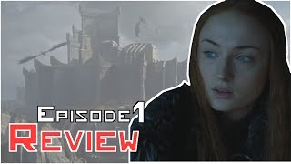 Twitter: https://twitter.com/twkingmckayGame Of Thrones Season 7 Episode 1 Review I cover Sam have his shit, Sansa and Jon relationship again, Bran returning and Cersei's aggression. So pretty much everything in Season 7 Episode 1!Free AudioBook:  http://www.audibletrial.com/kinghttps://www.geekfuel.com/KingMcKaySubscribe: http://bit.ly/1yePWnGTwitter: https://twitter.com/twkingmckayFacebook:  http://bit.ly/1AaOXTHGoogle +: http://bit.ly/1stPJxfPatreon: https://www.patreon.com/kingmckayGame of Thrones is an American fantasy drama television series created by showrunners David Benioff and D. B. Weiss. It is an adaptation of A Song of Ice and Fire, George R. R. Martin's series of fantasy novels, the first of which is titled A Game of Thrones. It is filmed in a Belfast studio and on location elsewhere in Croatia, Iceland, Malta, Morocco, Northern Ireland, Spain, Scotland, and the United States, and premiered on HBO in the United States on April 17, 2011. The series has been renewed for a sixth season, which will premiere on April 24, 2016FAIR USE NOTICEThis video may contain copyrighted material; the use of which has not been specifically authorized by the copyright owner. We are making such material available for the purposes of criticism, comment, review and news reporting which constitute the 'fair use' of any such copyrighted material as provided in the NZ Copyright Act 1994. Notwithstanding the provisions of the 42 section, the fair use of a copyrighted work for purposes such as criticism, comment, review and news reporting is not an infringement of copyright.