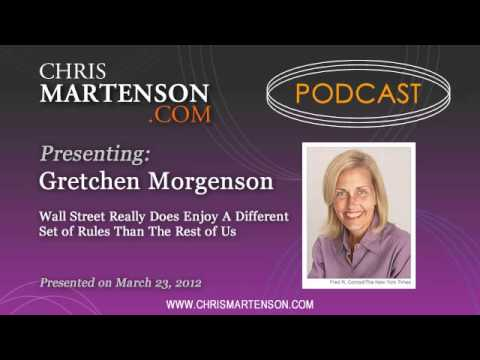 gretchen morgenson - Gretchen Morgenson has earned a Pulitzer-winning career from exposing abuse and conflicts of interest on Wall Street. In this interview, she confirms that th...