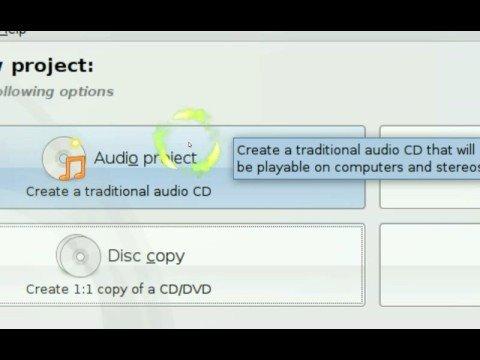 Burn to Disc, Copy Disc to HDD - Brasero - Ubuntu Linux 8.04