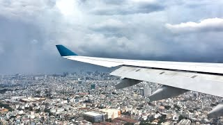 A full approach with stunning views of Ho Chi Minh City onboard Vietnam Airlines Airbus A330-200 before landing at Tan Son Nhat International Airport!In the background is District 1, which is the central urban district of the city. The tallest building is the 68 storey Bitexco Financial Tower, the tallest building in Vietnam.SUBSCRIBE for more videos!http://www.youtube.com/subscription_c...________________________✈ Flight Information ✈Date: 14 September 2016Airline: Vietnam AirlinesEquipment: Airbus A330-223Registration: VN-A383Flight: VN235Seat: 30AOrigin: Nội Bài International Airport, VietnamDeparture Runway: 11LDestination: Tân Sơn Nhất International Airport, VietnamArrival Runway: 25RDeparture Time: 1232 hrs (1145 hrs)Arrival Time: 1410 hrs (1355 hrs)Flight Duration: 1 hrs 38 minsDelay: 15 minutes________________________Follow me on:Facebook › https://www.facebook.com/rva.aviationInstagram › https://www.instagram.com/flycruise_singaporeGoogle+ › https://www.google.com/+rva9495_____________________________________________