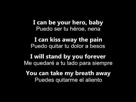 ♥ Hero ♥ Héroe ~ by Enrique  Iglesias - subtitulada en inglés y español