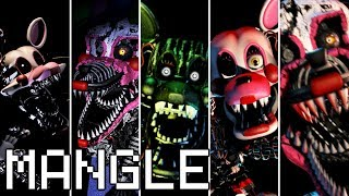 Evolution of Mangle in FNAF (2014-2018)