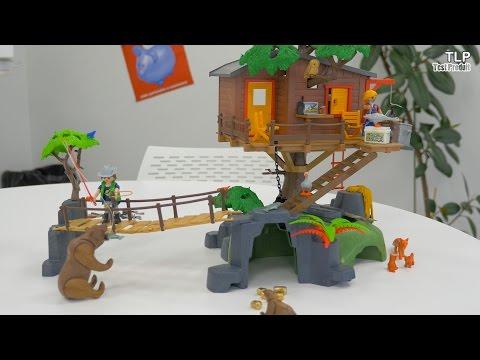 PLAYMOBIL wild life - cabane dans les arbres 5557 - nombreux animaux -