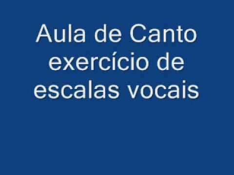 Aula de Canto 4/5 exerc�cio de escalas vocais 01